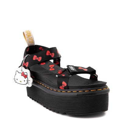 Alternate view of Womens Dr. Martens x Hello Kitty® Vegan Platform Sandal - Black