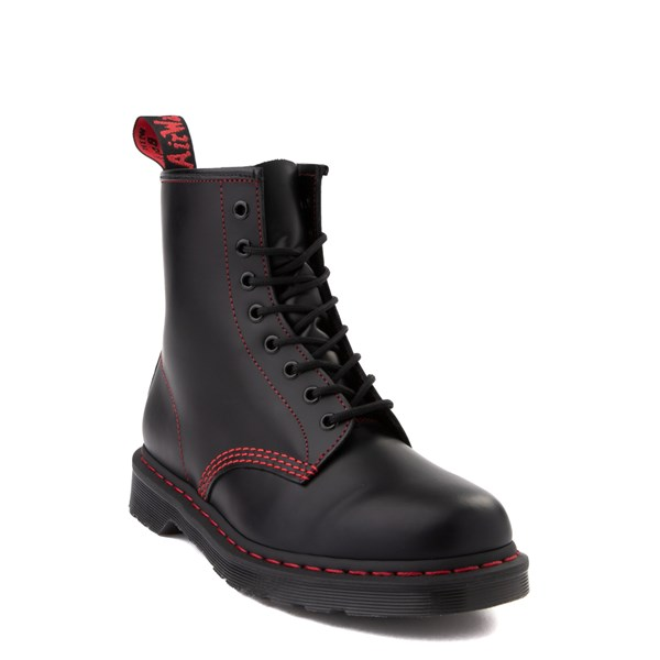 alternate image alternate view Dr. Martens 1460 8-Eye Boot - Black / RedALT1