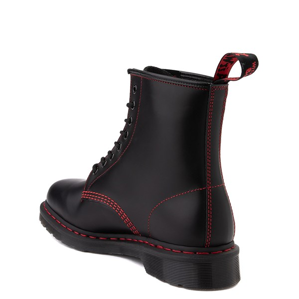 alternate image alternate view Dr. Martens 1460 8-Eye Boot - Black / RedALT2