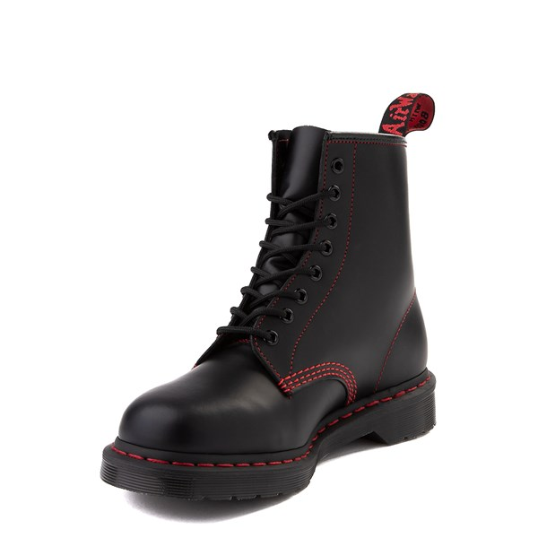 alternate image alternate view Dr. Martens 1460 8-Eye Boot - Black / RedALT3