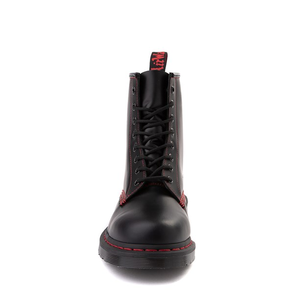 alternate image alternate view Dr. Martens 1460 8-Eye Boot - Black / RedALT4