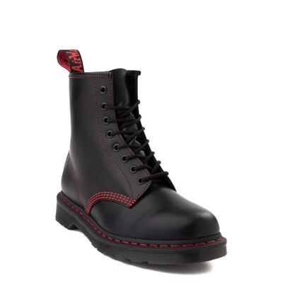 Alternate view of Dr. Martens 1460 8-Eye Boot - Black / Red