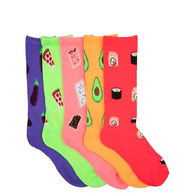Main view of Mens Food Crew Socks 5 Pack