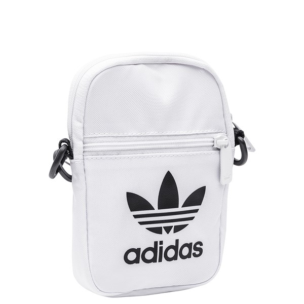 alternate image alternate view adidas Originals Trefoil Crossbody Festival Bag - WhiteALT4B