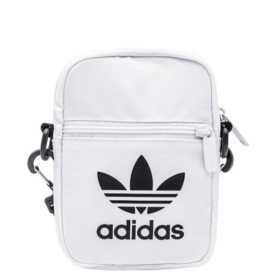 Main view of adidas Originals Trefoil Crossbody Festival Bag - White