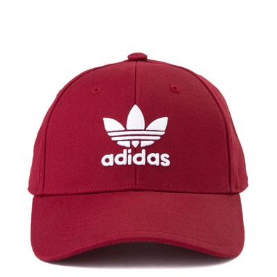 Main view of adidas Trefoil Relaxed Dad Hat - Maroon