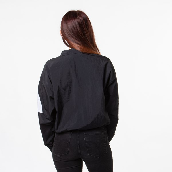 alternate image alternate view Womens adidas Big Trefoil Cropped Windbreaker JacketALT1
