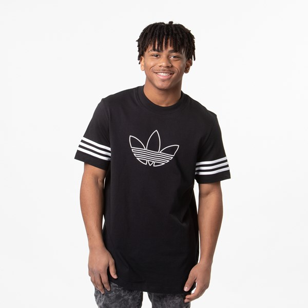 Mens adidas Outline Tee - Black