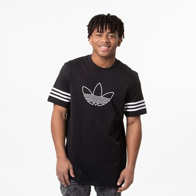 Main view of Mens adidas Outline Tee - Black
