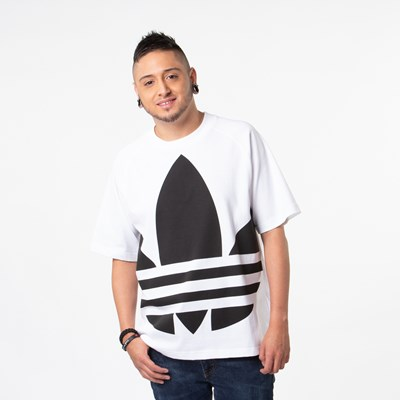 Main view of Mens adidas Big Trefoil Tee - White