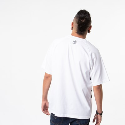 Alternate view of Mens adidas Big Trefoil Tee - White