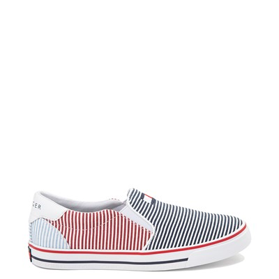 Main view of Womens Tommy Hilfiger Oaklyn Slip On Casual Shoe - Navy / Red