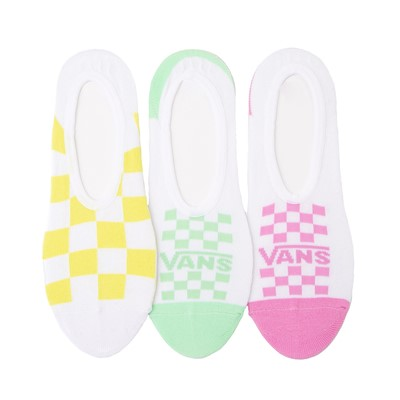 Main view of Womens Vans Pastel Checkerboard Canoodle Liners 3 Pack - Multi
