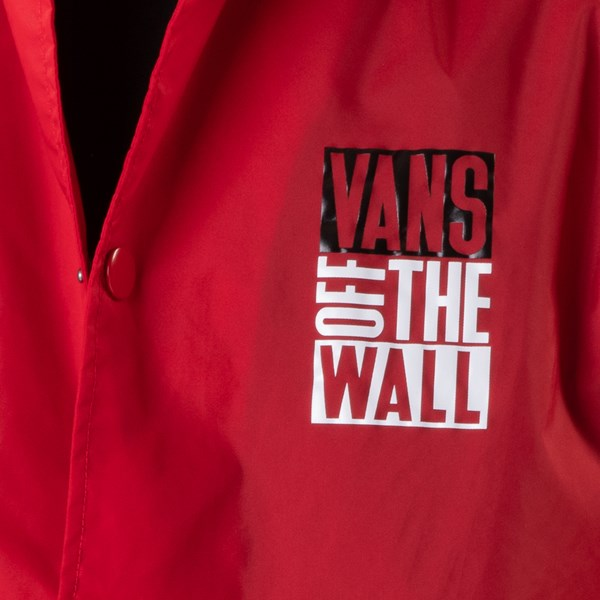 alternate image alternate view Mens Vans Coaches Jacket - Racing RedALT4