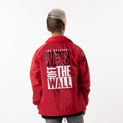 Alternate view of Mens Vans Coaches Jacket - Racing Red