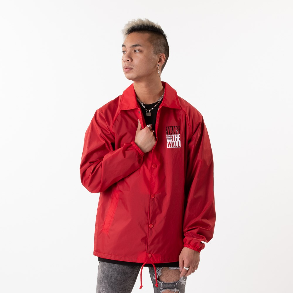 Mens Vans Coaches Jacket - Racing Red
