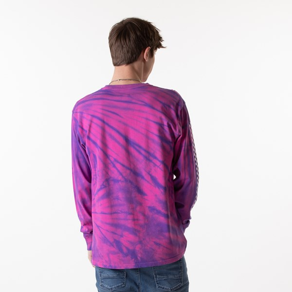 alternate image alternate view Mens Vans Checkered Tie Dye Long Sleeve Tee - Fuchsia / PurpleALT1