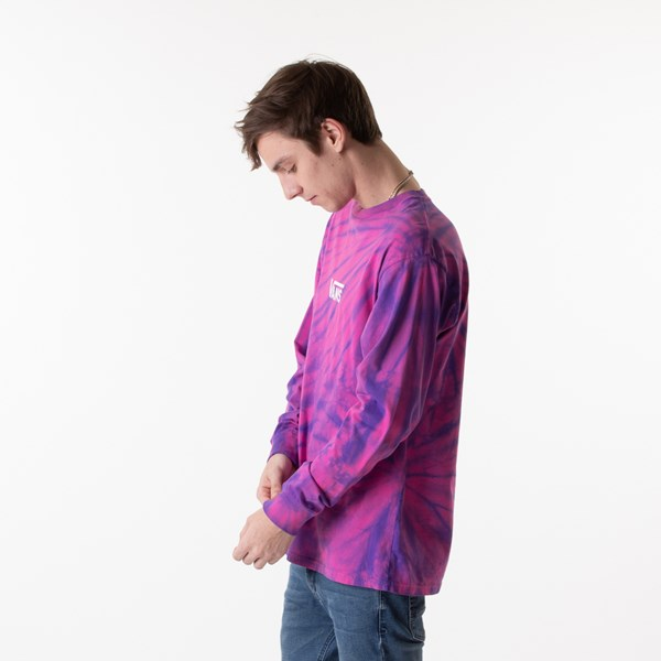 alternate image alternate view Mens Vans Checkered Tie Dye Long Sleeve Tee - Fuchsia / PurpleALT3