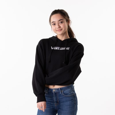Main view of Womens Vans Strait Out Turvy Cropped Hoodie