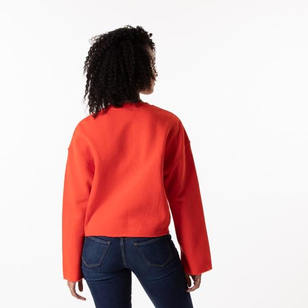 alternate image alternate view Womens Vans Brand Striper Cropped Sweatshirt - GrenadineALT1