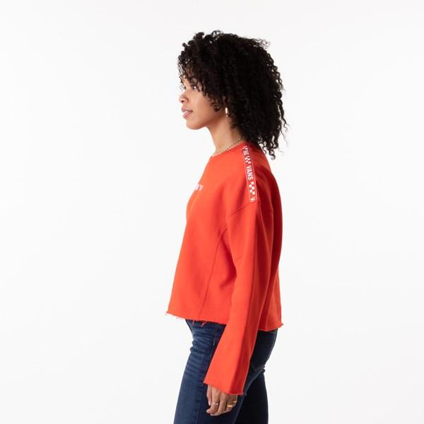 alternate image alternate view Womens Vans Brand Striper Cropped Sweatshirt - GrenadineALT2