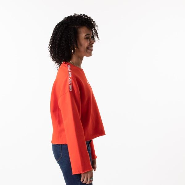 alternate image alternate view Womens Vans Brand Striper Cropped Sweatshirt - GrenadineALT3