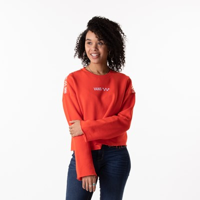 Main view of Womens Vans Brand Striper Cropped Sweatshirt - Grenadine