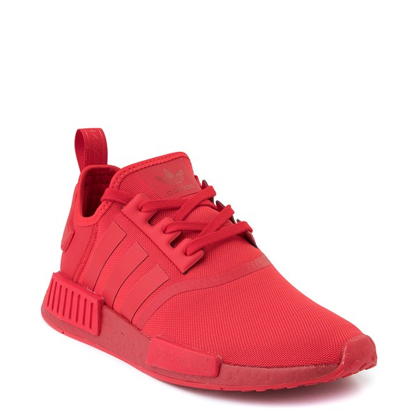 alternate image alternate view Mens adidas NMD R1 Athletic Shoe - Scarlet MonochromeALT1