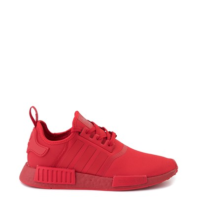 Main view of Mens adidas NMD R1 Athletic Shoe - Scarlet Monochrome