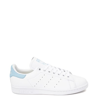 Main view of Womens adidas Stan Smith Athletic Shoe - White / Clear Sky