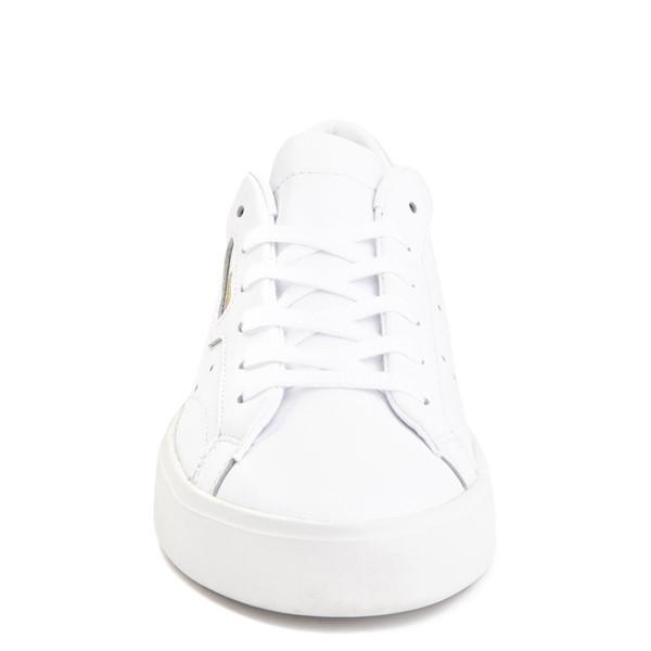 alternate image alternate view Womens adidas Sleek Athletic Shoe - WhiteALT4