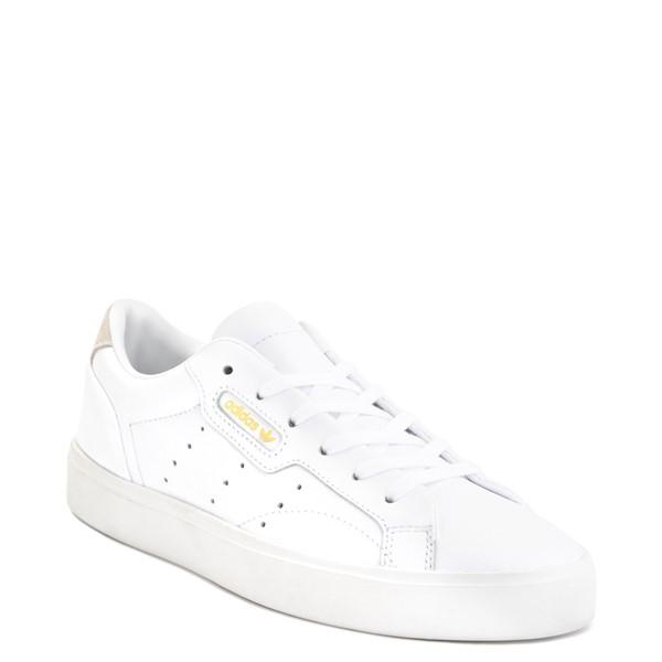 alternate image alternate view Womens adidas Sleek Athletic Shoe - WhiteALT5