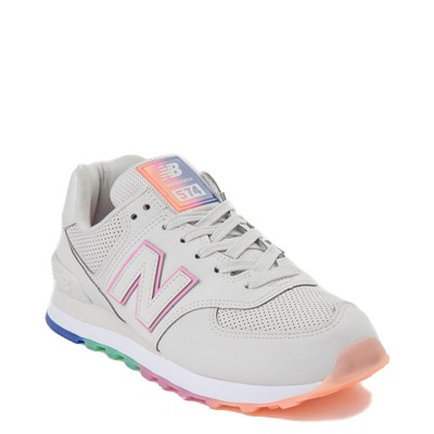Alternate view of Womens New Balance 574 Outer Glow Athletic Shoe - Stone / Multi