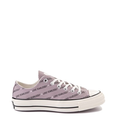 Main view of Womens Converse Chuck 70 Lo Love Fearlessly Sneaker - Amethyst Grey