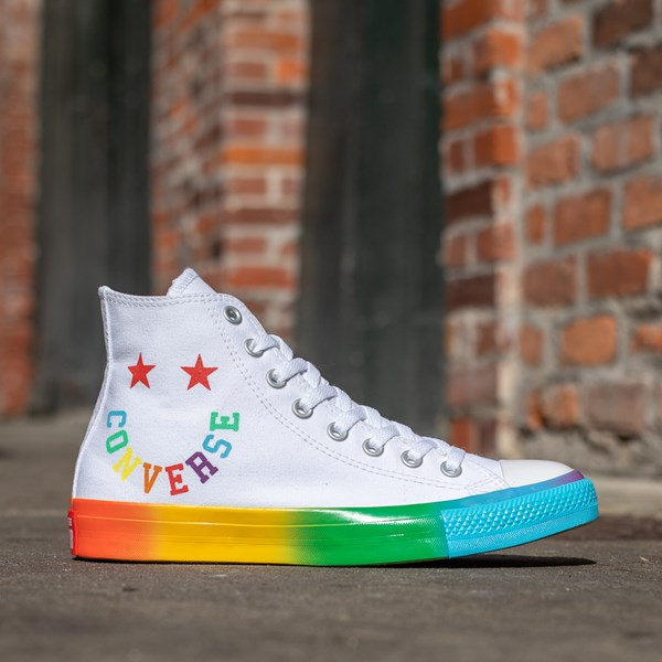 alternate image alternate view Converse Chuck Taylor All Star Hi Smiley Sneaker - White / MultiALT1B