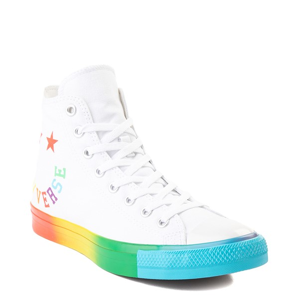 alternate image alternate view Converse Chuck Taylor All Star Hi Smiley Sneaker - White / MultiALT1C