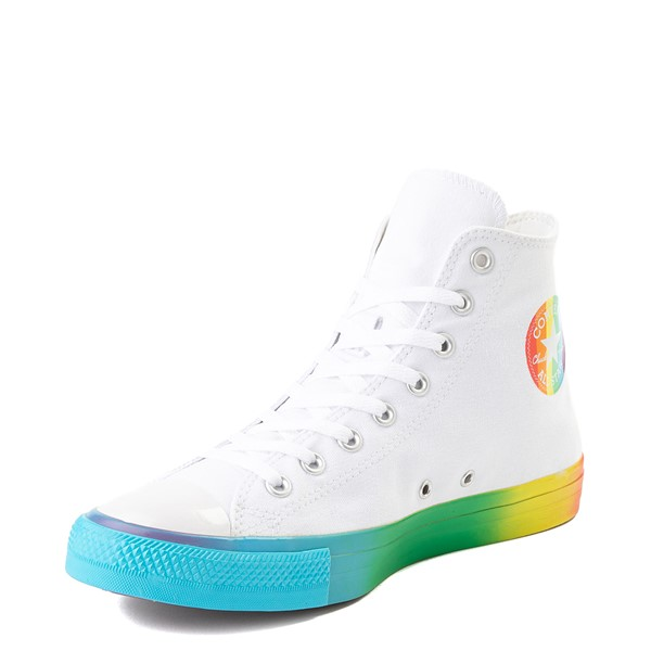 alternate image alternate view Converse Chuck Taylor All Star Hi Smiley Sneaker - White / MultiALT2
