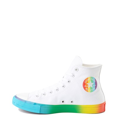 Alternate view of Converse Chuck Taylor All Star Hi Smiley Sneaker - White / Multi