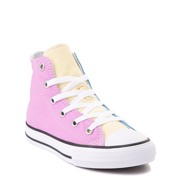 alternate image alternate view Converse Chuck Taylor All Star Hi Color-Block Sneaker - Little Kid - MultiALT1B