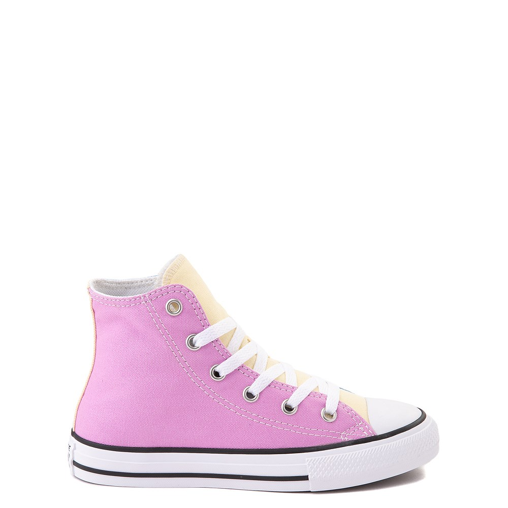 Converse Chuck Taylor All Star Hi Color-Block Sneaker - Little Kid - Multi