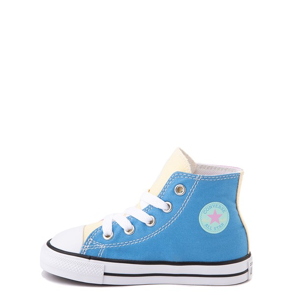 alternate image alternate view Converse Chuck Taylor All Star Hi Color-Block Sneaker - Baby / Toddler - MultiALT1