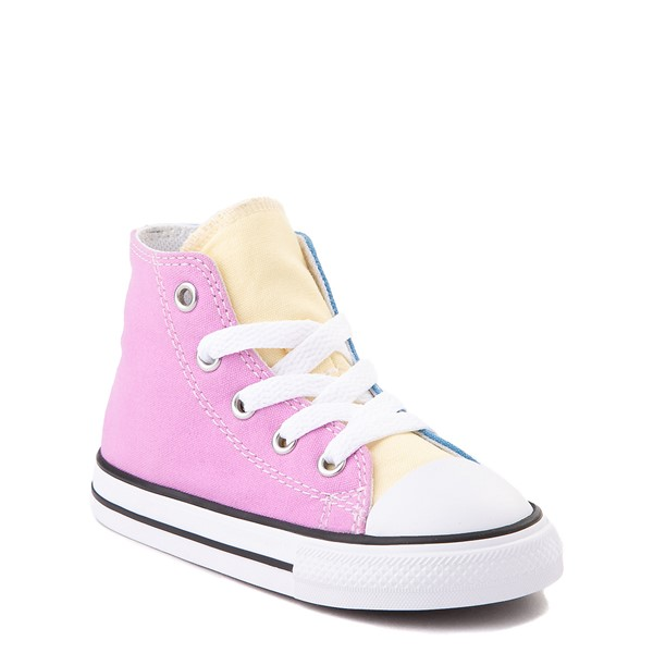 alternate image alternate view Converse Chuck Taylor All Star Hi Color-Block Sneaker - Baby / Toddler - MultiALT1B