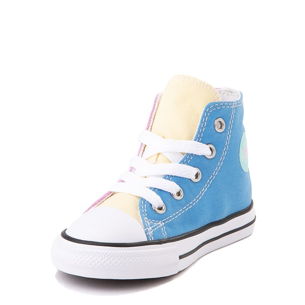 alternate image alternate view Converse Chuck Taylor All Star Hi Color-Block Sneaker - Baby / Toddler - MultiALT3
