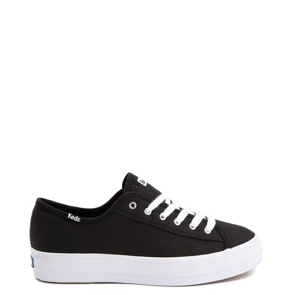 Womens Keds Triple Kick Casual Platform Shoe - Black