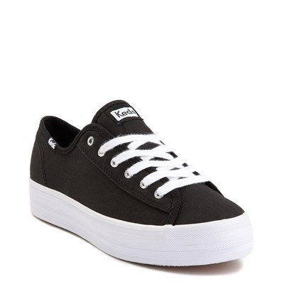 Alternate view of Womens Keds Triple Kick Casual Platform Shoe - Black