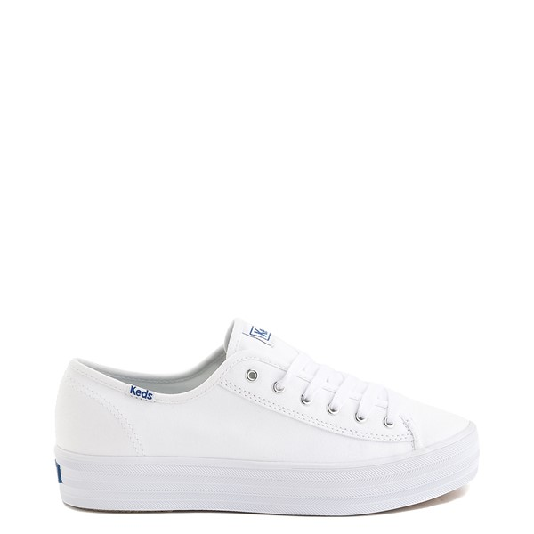 Womens Keds Triple Kick Casual Platform Shoe - White