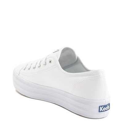 Alternate view of Womens Keds Triple Kick Casual Platform Shoe - White
