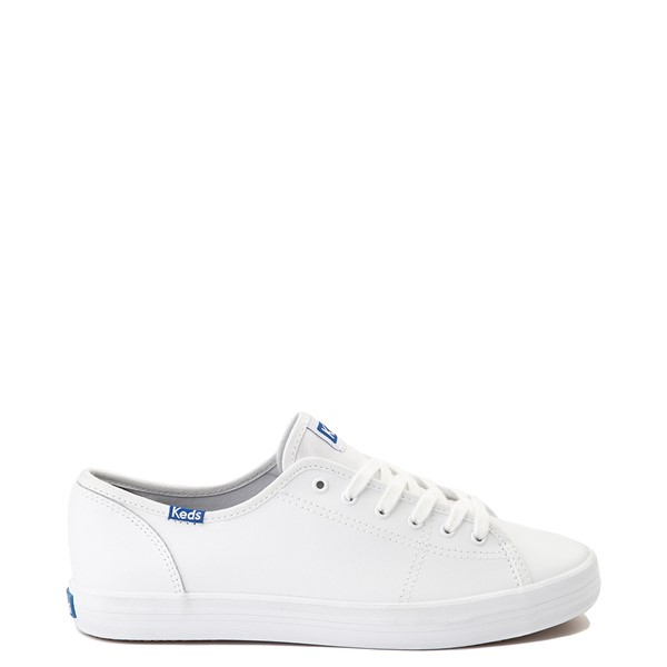 Womens Keds Kickstart Leather Casual Shoe - White