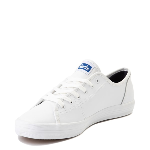 alternate image alternate view Womens Keds Kickstart Leather Casual Shoe - WhiteALT2