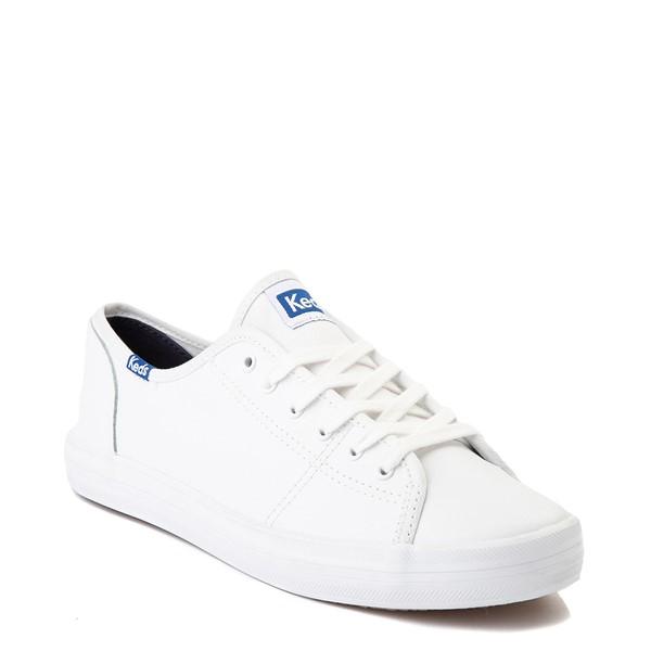 alternate image alternate view Womens Keds Kickstart Leather Casual Shoe - WhiteALT5